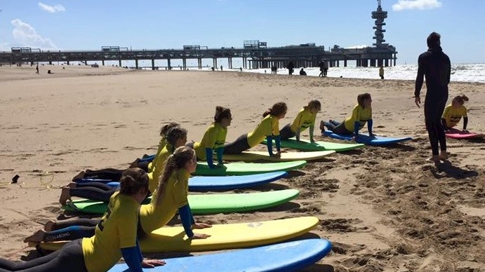 Surfles in Scheveningen